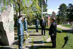Wreath-laying ceremony in Ariana Park, Geneva 6th of April, 2011