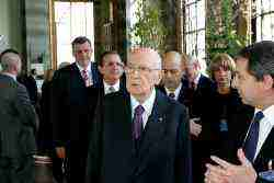 Photo gallery of the visit of the Italian President Giorgio Napolitano during his visit at the Palais des Nations in Geneva